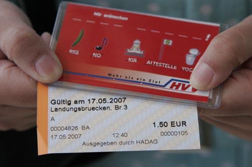 HVV-Fahrkarten